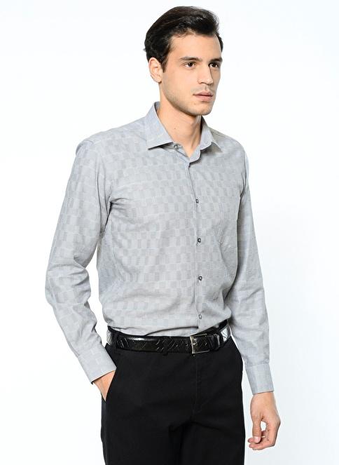 Daffari Uzun Kollu Slim Fit Gömlek Siyah